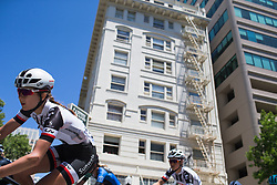 Juliette Labous (FRA) of Team Sunweb leans into a corner on Stage 3 of the Amgen Tour of California - a 70 km road race, starting and finishing in Sacramento on May 19, 2018, in California, United States. (Photo by Balint Hamvas/Velofocus.com)