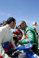 Dario Franchitti and Tony Kanaan at the Homestead-Miami Speedway, Toyota Indy 300, March 6, 2005