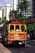 Trolley, Waikiki, Oahu, Hawaii<br />