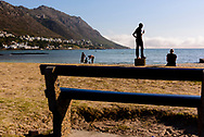 Beach goers enjoy an afternoon at Gordon's Bay, South Africa. © Brett Wilhelm