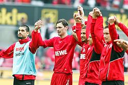 03.04.2010,  Rhein Energie Stadion, Koeln, GER, 1.FBL, FC Koeln vs 1. FC Nuernberg, 28. Spieltag, im Bild: Milivoje Novakovic (Koeln #11) (2L) ist der Torschuetze des 1:0 und laesst sich feiern  EXPA Pictures © 2011, PhotoCredit: EXPA/ nph/  Mueller       ****** out of GER / SWE / CRO  / BEL ******
