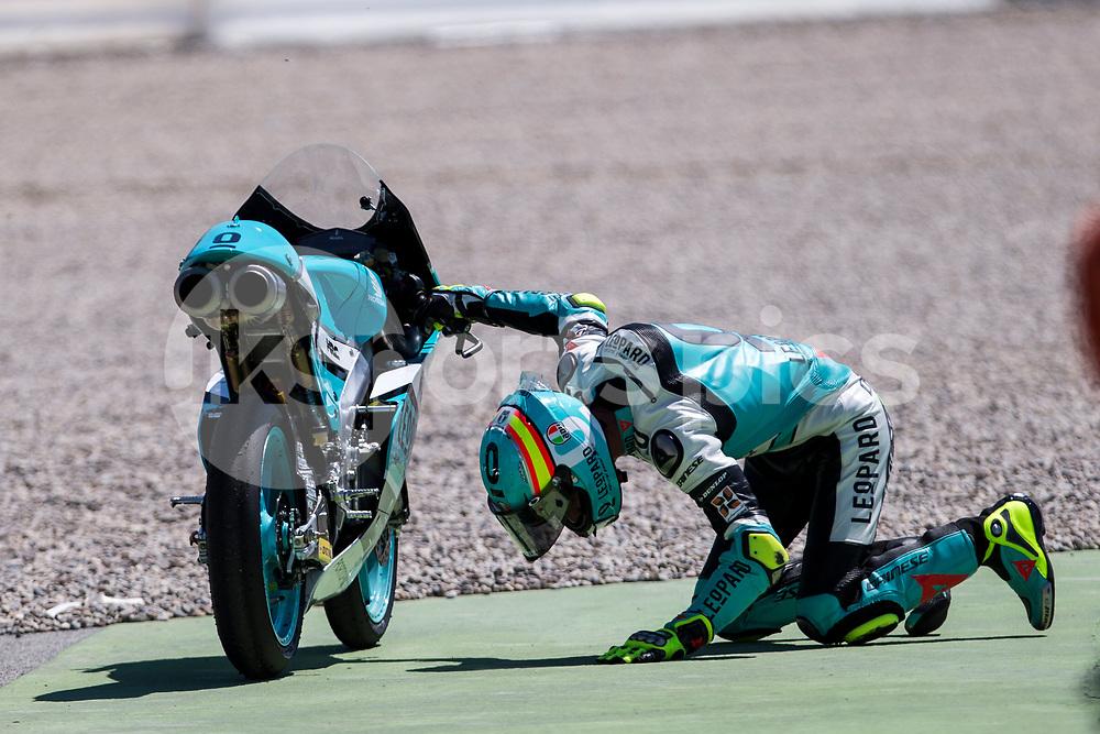 Joan Mir of Spain and Leopard Racing Team in memoriam of Luis Salom during the race of  Moto3 of Catalunya at Circuit de Catalunya on June 11, 2017 in Montmelo, Spain.(Asenjo Sesma / AFP7)