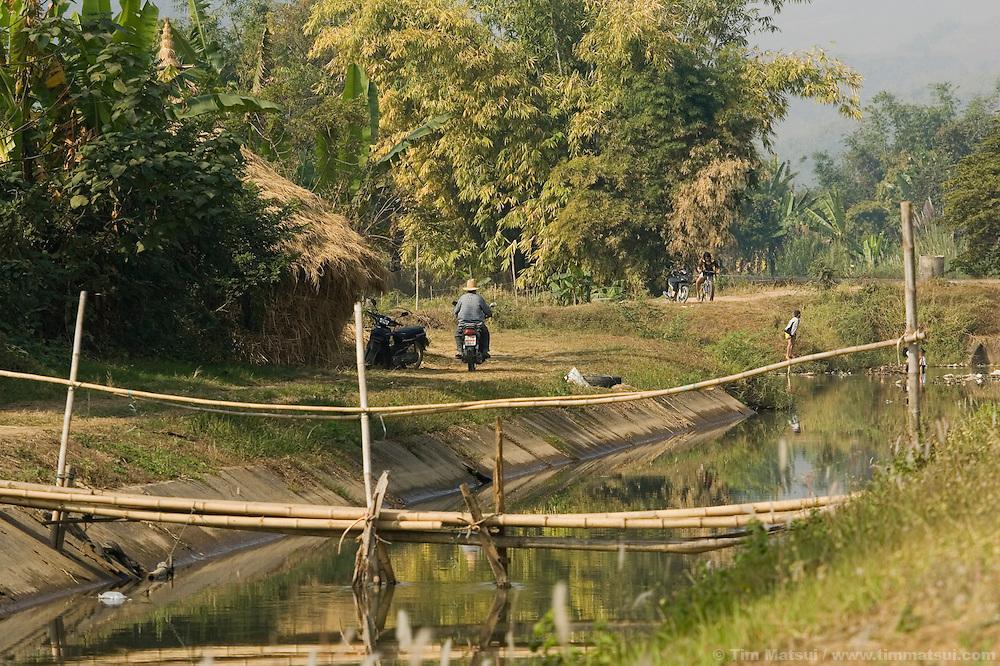 Farmland near Mae Sai, Thailand, on the Thai/Burma border.