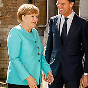NLD//Middelburg20160421 - Four Freedoms Awards 2016, Duitse bondskanselier Angela Merkel en premier Mark Rutte