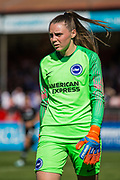 during the FA Women's Super League match between Brighton and Hove Albion Women and Chelsea at The People's Pension Stadium, Crawley, England on 15 September 2019.
