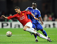 v.l. Cristiano Ronaldo ManU , Michael Essien Chelsea<br /> Champions League Finale Manchester United FC - FC Chelsea <br /> <br /> Norway only