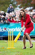 KATE & Prince Willam Play Cricket On Christchurch Visit