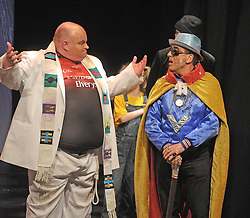 Character&rsquo;s Priest (Charlie McDonnell) and Vill.I.an  (John Gavin),  from Prince Handsome Panto that ran successfully at Westport Town Hall theatre&rsquo;s last week.<br /> Pic Conor McKeown