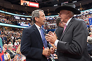 South Carolina Congressmen and former Gov. Mark Sanford, left, during the Republican National Convention July 20, 2016 in Cleveland, Ohio.