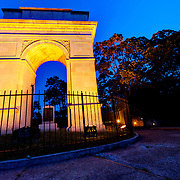 Rosedale Memorial Arch in Kansas City, Kansas, originally a tribute to Rosedale, Kansas (now part of KCK) soldiers in World War One. It is a replica of the Arc de Triomphe in Paris.