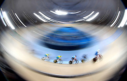 A general view of Men's 40km Points Race Final at the Anna Meares Velodrome during day four of the 2018 Commonwealth Games in the Gold Coast, Australia.