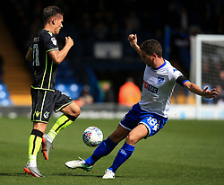 Tom Nichols of Bristol Rovers takes on Alex Bruce of Bury - Mandatory by-line: Matt McNulty/JMP - 19/08/2017 - FOOTBALL - Gigg Lane - Bury, England - Bury v Bristol Rovers - Sky Bet League One