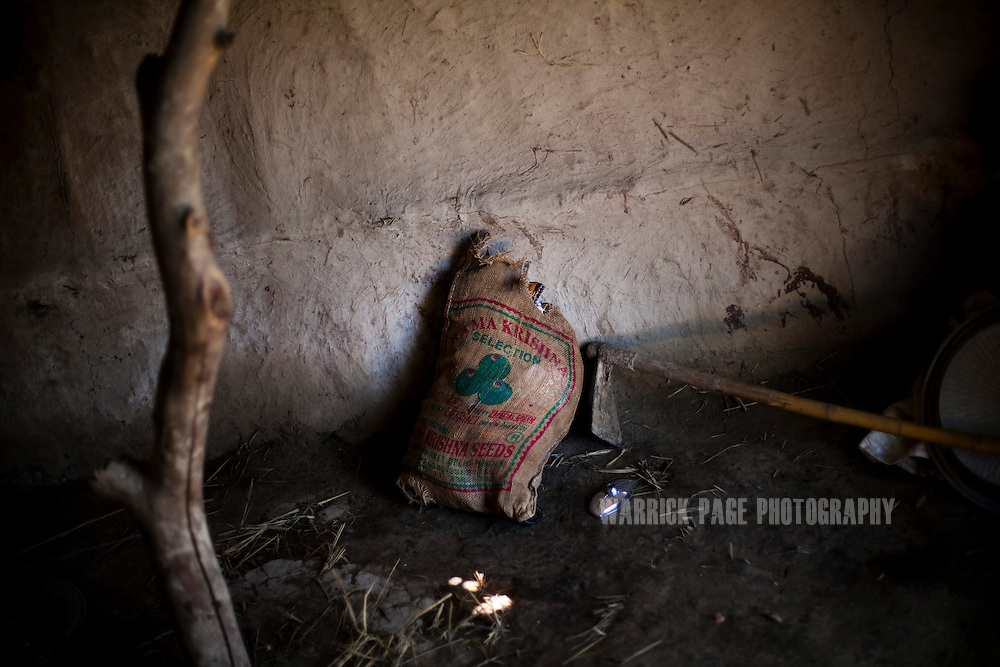 A sack of food is seen in a home on October 14, 2011, in Darya Khan Soho, Pakistan. Most rural poor in Pakistan do not have the facilities to properly store fresh foods and or the money to maintain a proper diet. According to UN reports, hundreds of thousands of children in Pakistan suffer from severe-acute-malnutrition, with 15.1% of children experiencing acute malnutrition. Child malnutrition has breached emergency levels in Pakistan's Sindh province, after monsoon floods devastated the country's poorest region for a second year. Extreme poverty, poor diet and health, exposure to disease, and inadequate sanitation and hygiene annually produce alarming levels of malnutrition amongst children, but the floods have increasingly endangered an already vulnerable population. (Photo by Warrick Page)