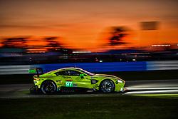 March 13, 2019 - Sebring, Etats Unis - 97 ASTON MARTIN RACING (GBR) ASTON MARTIN VANTAGE AMR GTE PRO ALEXANDER LYNN (GBR) MAXIME MARTIN  (Credit Image: © Panoramic via ZUMA Press)