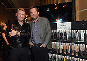 Designer Todd Snyder, left, and Tobias Reiss-Schmidt, President & CEO at Timex Group, pose for a photo before the Todd Snyder Fall 2016 show, where they introduced the Timex x Todd Snyder partnership and debuted the Timex Waterbury Red Wing watch, at New York Fashion Week: Men's, Thursday, Feb. 4, 2016.  (Diane Bondareff/AP Images for Timex)