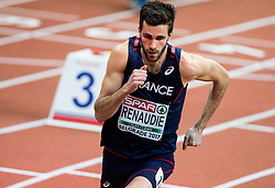 Paul Renaudie of France competes in the Men's 800 metres heats on day one of the 2017 European Athletics Indoor Championships at the Kombank Arena on March 3, 2017 in Belgrade, Serbia. Photo by Vid Ponikvar / Sportida
