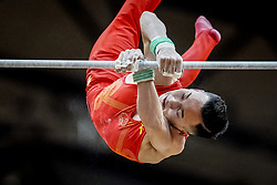 October 29, 2018 - Doha, Qatar - Ruoteng Xiao of  China   during  High Bar, Team final for Men at the Aspire Dome in Doha, Qatar, Artistic FIG Gymnastics World Championships on October 29, 2018. (Credit Image: © Ulrik Pedersen/NurPhoto via ZUMA Press)