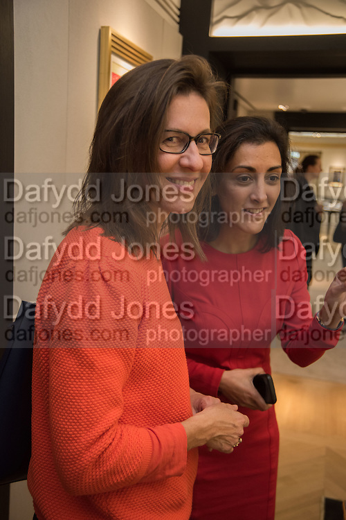 MICHELLE LAVERY; ZAHRA KASSIM-LAKHA, preview of 'UNBRIDLED SYNCHRONY', an exhibition of works by photographer Astrid Muñoz. Jaeger-LeCoultre Boutique<br /> 13 Old Bond Street. London. 13 July 2015