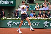 Novak Djokovic (SRB) during the prelminary rounds of the Roland Garros Tennis Open 2017 at Roland Garros Stadium, Paris, France on 2 June 2017. Photo by Jon Bromley.