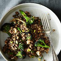 Charred Broccoli and Lentil Salad
