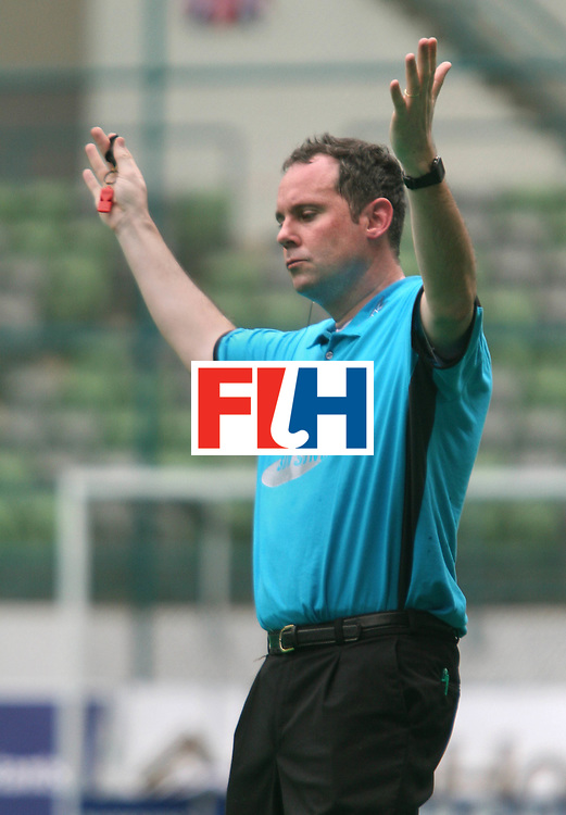 Kuala Lumpur:  Umpire Van eert Roel of Netherlands at  the Samsung Hockey Men Champions Trophy on 09 Dec 2007. Photo:GNN/Vino John