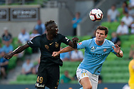 MELBOURNE, VIC - JANUARY 22: Melbourne City defender Curtis Good (22) competes for the ball at the Hyundai A-League Round 15 soccer match between Melbourne City FC and Western Sydney Wanderers at AAMI Park in VIC, Australia 22 January 2019. Image by (Speed Media/Icon Sportswire)