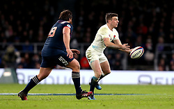George Ford of England passes the ball - Mandatory by-line: Robbie Stephenson/JMP - 04/02/2017 - RUGBY - Twickenham - London, England - England v France - RBS Six Nations