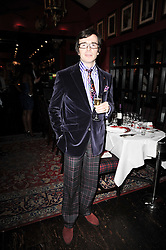 MARC PSORALIS at the Johnnie Walker Blue Label great Scot Award 2010 in association with The Spectator and Boisdale held at Boisdale of Belgravia, 22 Ecclestone Street, London SW1 on 24th February 2010.