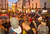 Turning on Christmas Lights in New Ross