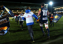 Sam Lewis of Worcester Warriors runs out to face London Irish  - Mandatory by-line: Robbie Stephenson/JMP - 22/12/2017 - RUGBY - Sixways Stadium - Worcester, England - Worcester Warriors v London Irish - Aviva Premiership