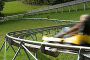 Sommerrodelbahn, Wiegand Erlebnisberge, Wald-Michelbach, Odenwald, Naturpark Bergstraße-Odenwald, Hessen, Deutschland   summer-toboggan run, Wald-Michelbach, Odenwald, Hesse, Germany