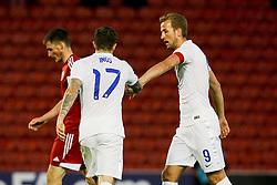 Danny Ings of England high fives Harry Kane - Photo mandatory by-line: Matt McNulty/JMP - Mobile: 07966 386802 - 11/06/2015 - SPORT - Football - Barnsley - Oakwell Stadium - England U21 v Belarus U21 - International Friendly U21s