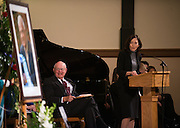 Judge Justin Quackenbush and Sen. Maria Cantwell, D-Wash., during the memorial Nov. 1, 2013 for former House Speaker Thomas Foley at St. Aloysius Church in Spokane, Wash. (Photo courtesy of Gonzaga University.)