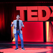 Tall Order TEDx Seattle 2018. Anirudh Koul (Seeing AI). Photo by Alabastro Photography.
