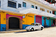 Street scene in Bucerias, Nayarit, Mexico.