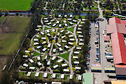 Nederland, Overijssel,  Gemeente Hardenberg, 01-05-2013; vakantiepark en attractiepark Slagharen (voorheen Shetland Ponypark Slagharen). Stacaravans.<br /> Themepark & Resort Slagharen with site (holiday) caravan.<br /> luchtfoto (toeslag op standard tarieven);<br /> aerial photo (additional fee required);<br /> copyright foto/photo Siebe Swart