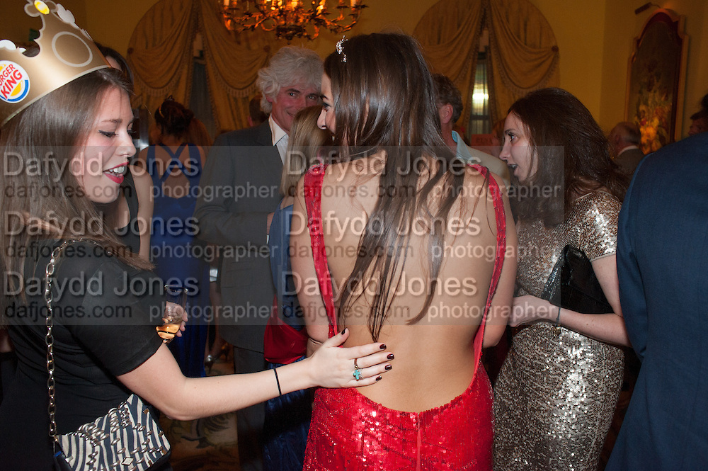REBECCA HOFFNUNG; ; VIOLET HENDERSON, Tatler magazine Jubilee party with Thomas Pink. The Ritz, Piccadilly. London. 2 May 2012
