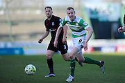 Yeovil Town's Marc Laird during the Sky Bet League 2 match between Yeovil Town and Carlisle United at Huish Park, Yeovil, England on 25 March 2016. Photo by Graham Hunt.