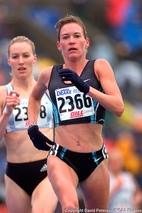 Suzy Favor Hamilton won the 3,000 meters with a world best time.  photo by david peterson  23Mar 2013:  Des Moines, Iowa: the NCAA Division 1 Wrestling Championships held at Wells Fargo Arena in Des Moines, Iowa.   Dave Peterson/NCAA PHOTOS.