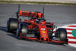 February 18, 2019 - Barcelona, Spain - 05 VETTEL Sebastian (ger), Scuderia Ferrari SF90, action during Formula 1 winter tests from February 18 to 21, 2019 at Barcelona, Spain - : FIA Formula One World Championship 2019, Test in Barcelona, (Credit Image: © Hoch Zwei via ZUMA Wire)