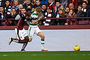 Celtic FC Midfielder Stuart Armstrong on the attack  during the Ladbrokes Scottish Premiership match between Heart of Midlothian and Celtic at Tynecastle Stadium, Gorgie, Scotland on 27 December 2015. Photo by Craig McAllister.