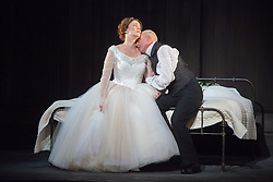 © Licensed to London News Pictures. 20/05/2013. Welsh National Opera present Wagner's Lohengrin, in a co-production with Theatr Wielki, Warsaw. Wales Millennium Centre, Cardiff. Emma Bell (Elsa von Brabant) & Peter Wedd (Lohengrin). Photo credit: Tony Nandi/LNP.