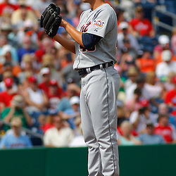 March 1, 2011; Clearwater, FL, USA; Detroit Tigers starting pitcher Alfredo Figaro (43) during a spring training exhibition game against the Philadelphia Phillies at Bright House Networks Field  Mandatory Credit: Derick E. Hingle