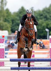 Meier Philippe (NED) - Ever Blue<br /> 4 jarige Springpaarden<br /> KWPN Paardendagen Ermelo 2013<br /> © Dirk Caremans