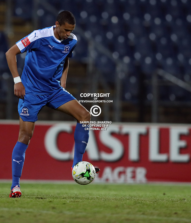 Bevan Fransman of Maritzburg Utd during the 2016 Premier Soccer League match between Maritzburg Utd and Polokwane City held at the Harry Gwala Stadium in Pietermaritzburg, South Africa on the 27th September 2016<br /> <br /> Photo by:   Steve Haag / Real Time Images