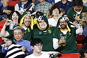 South Africa fans during the Japan 2019 Rugby World Cup Pool B match between New Zealand and South Africa at the International Stadium Yokohama in Yokohama on September 21, 2019. Photo Kishimoto / ProSportsImages / DPPI