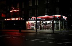 UK ENGLAND LONDON 26MAR14 - A & H Brass ironmonger's shop on Edgware Road, Paddington, central London.<br /> <br /> jre/Photo by Jiri Rezac<br /> <br /> © Jiri Rezac 2014