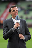 Benjamin GENTON / JOURNALISTE ET CONSULTANTS BE IN SPORTS  - 10.04.2015 - Caen / Monaco - 32e journee Ligue 1<br /> Photo : Vincent Michel / Icon Sport