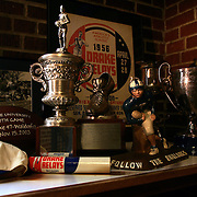 Drake sports trophies and memoribilia.  photo by david peterson  Des Moines, Ia.