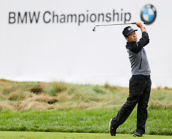 September 10, 2018 - Newtown Square, Pennsylvania, United States - Kevin Na tees off the 17th hole during the final round of the 2018 BMW Championship. (Credit Image: © Debby Wong/ZUMA Wire)